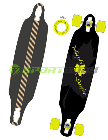 "DESKOROLKA LONGBOARD 38""  MAPLE SURFER"