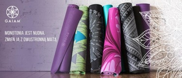 Mata do jogi dwustronna Gaiam Be Free 6 mm - czarna