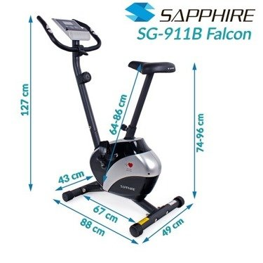 ROWER MAGNETYCZNY SAPPHIRE SG-911B FALCON +  GRATISY ! ! !