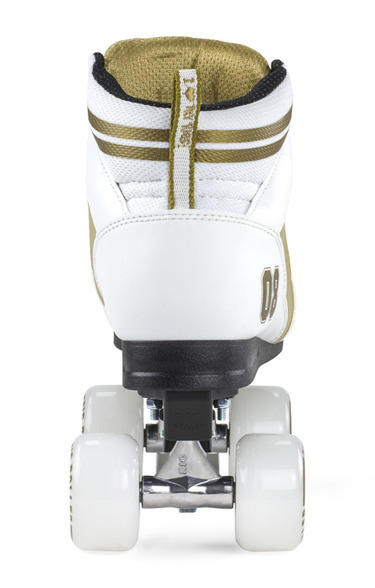 Wrotki retro old school Varsity White- Gold Rio Roller